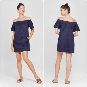 Lots of Love by Speechless Navy Off Shoulder Dress